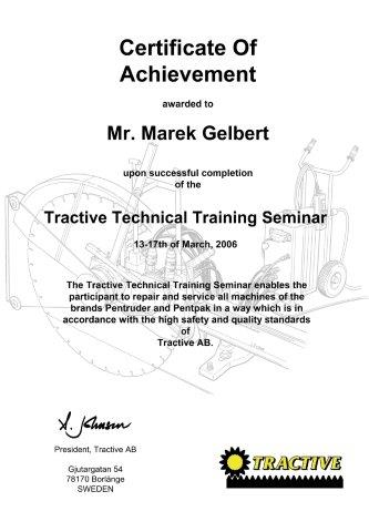Certyfikat Tractive dla BMTG